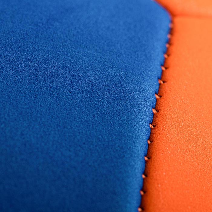 Ballon de volley-ball V100 SOFT 230-250g orange bleu pour les 10-14 ans