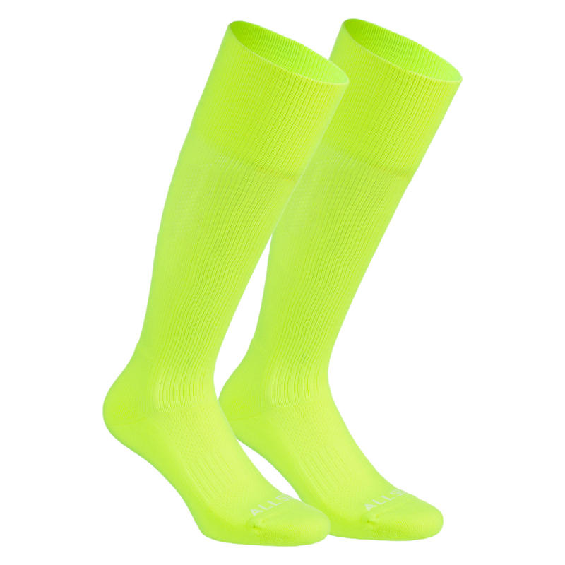 Calcetines largos voleibol Allsix VSK500 amarillo