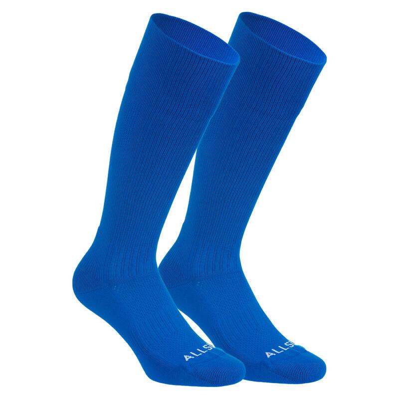 Calze pallavolo lunghe 500 blu