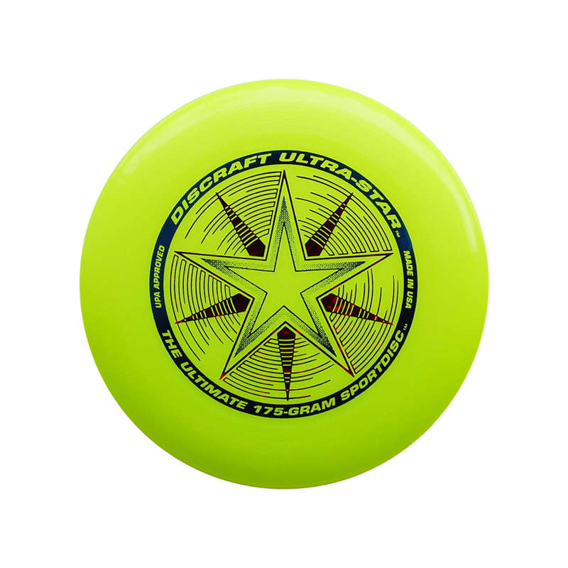 FLYING DISCS / BOOMERANG Frisbees and Boomerangs - Discraft Ultimate - Yellow ICARE - Sports