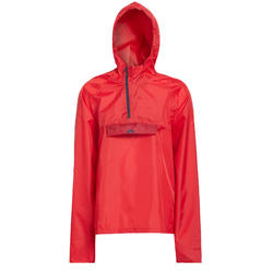 Kids Hiking Rain Jacket MH100 TW - Red
