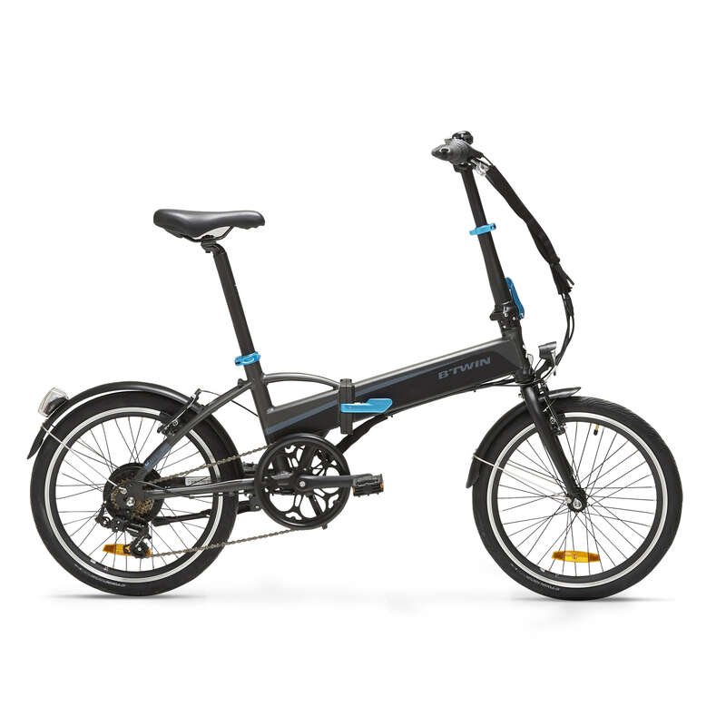 COMPACT / FOLDING BIKE Cycling - Tilt 500 Folding Electric Bike - Black BTWIN - Bikes