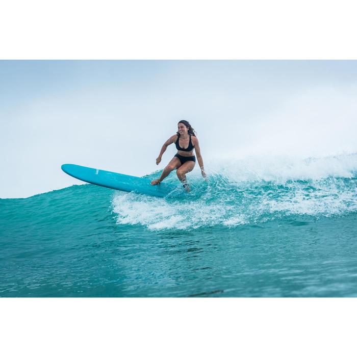 Bas de maillot de bain shorty de surf femme AVEC CORDON DE SERRAGE VAIANA NOIR