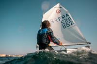 Dinghy 500 Kids' Sailing Windproof Smock - Dark Blue