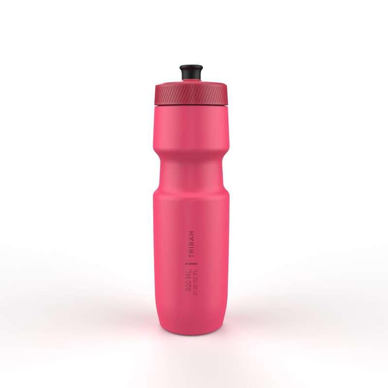 FLASKOR & FLASKHÅLLARE FÖR CYKEL Triathlon - Flaska SOFTFLOW 800 ml rosa TRIBAN - Energi, Näring