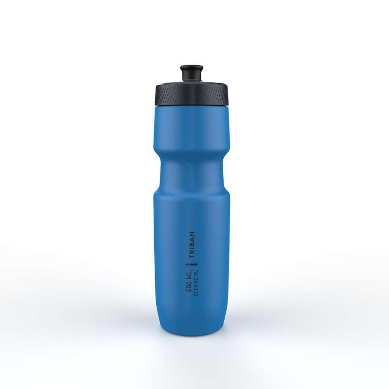 FLASKOR & FLASKHÅLLARE FÖR CYKEL Triathlon - Flaska SOFTFLOW 800 ml blå TRIBAN - Energi, Näring