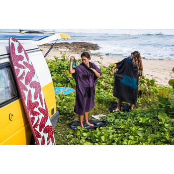 Surf poncho voor volwassenen 500 zwart