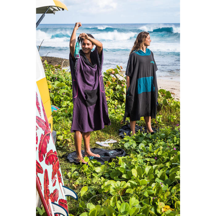 PONCHO SURF 500 ADULTE Noir