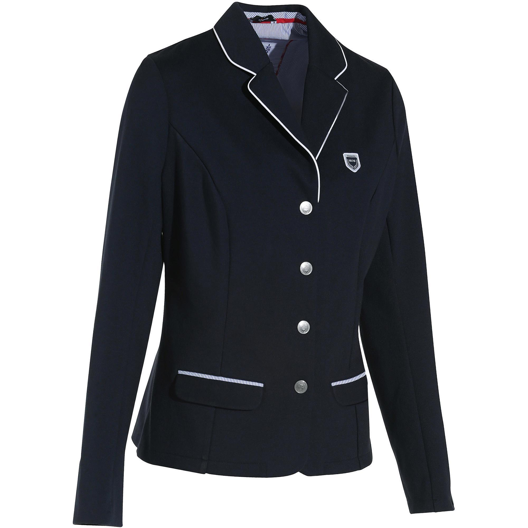 Paddock Women's Horse Riding Show Jacket - Blue | Fouganza
