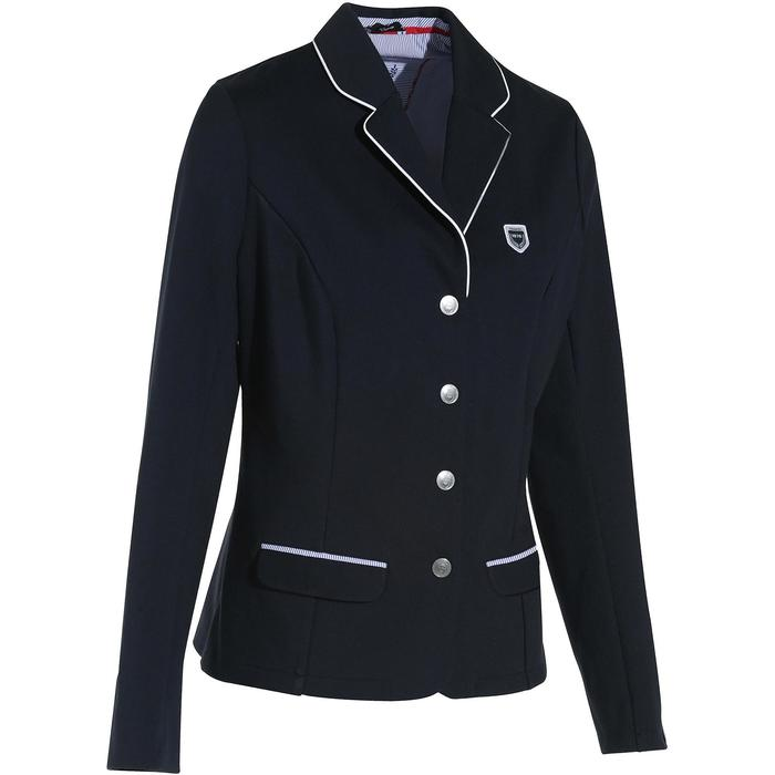 Veste de Concours équitation femme COMP100 bleu roi - 182506