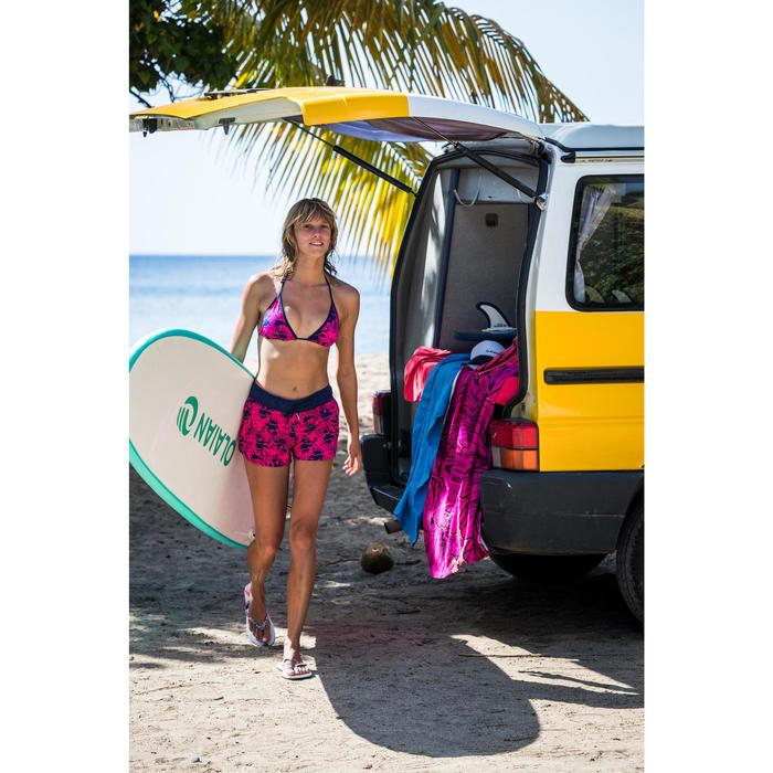 Boardshort surf femme TINI WAKO avec ceinture élastiquée et cordon de serrage