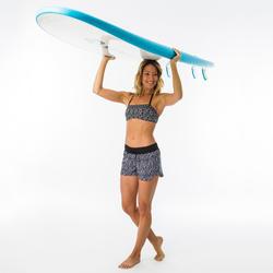 Short de bain surf femme TINI ETHNI ceinture élastique et cordon de serrage