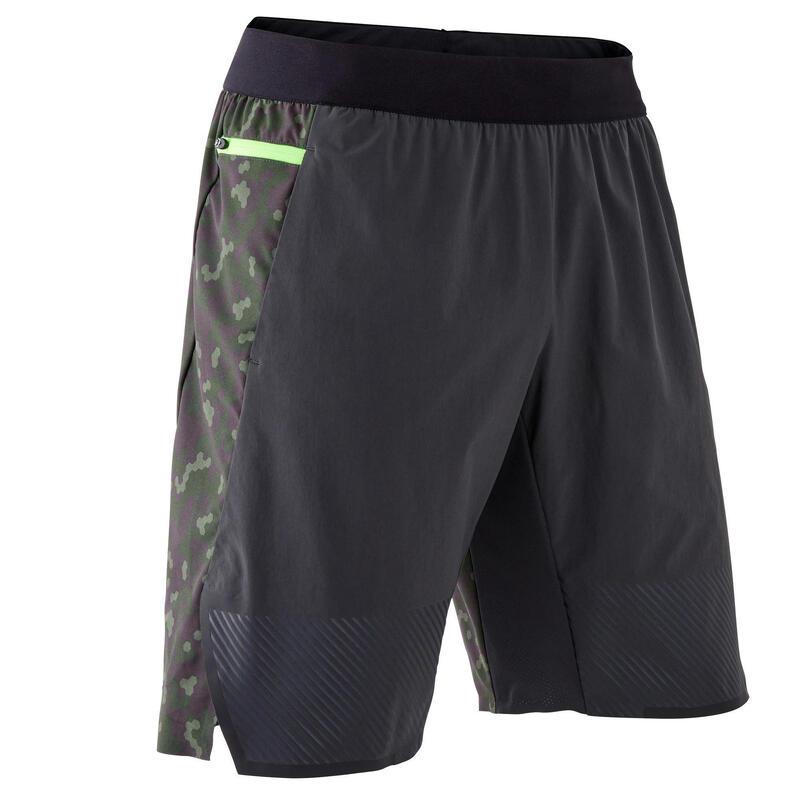 Men's Cross-Training Shorts - Grey/Green