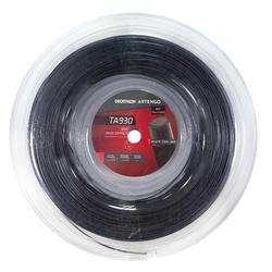 Tennissnaar monofilament zwart vijfhoekig TA 930 spin dikte 1,25 mm