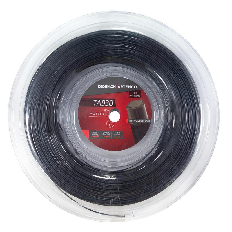 Corda tennis monofilamento pentagolnale TA 930 SPIN 1.3mm 200m nera