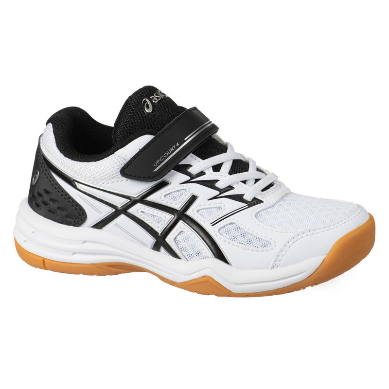 Kids' Badminton Shoes Upcourt 4 PS - White/Black