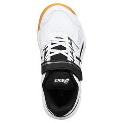 Chaussures de BADMINTON enfant Upcourt 4 PS Blanc Noir
