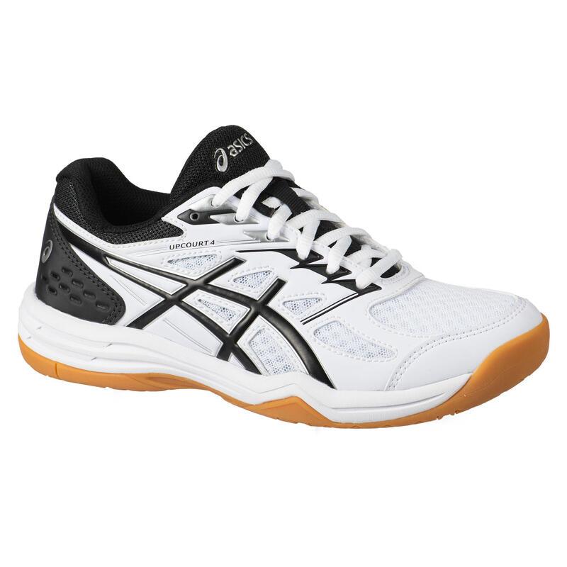 Zapatillas Bádminton/Squash Asics Upcourt 4 GS Niños Blanco/Negro
