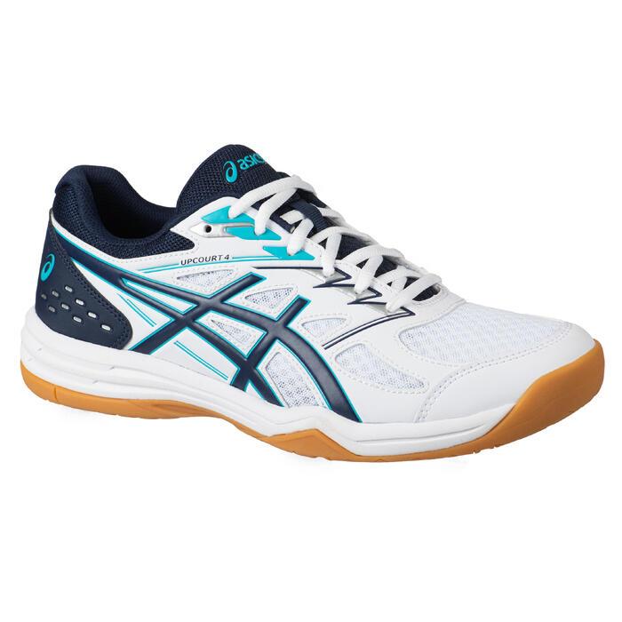 Chaussure de Badminton ou Sports Indoors homme Upcourt 4 Blanc Bleu
