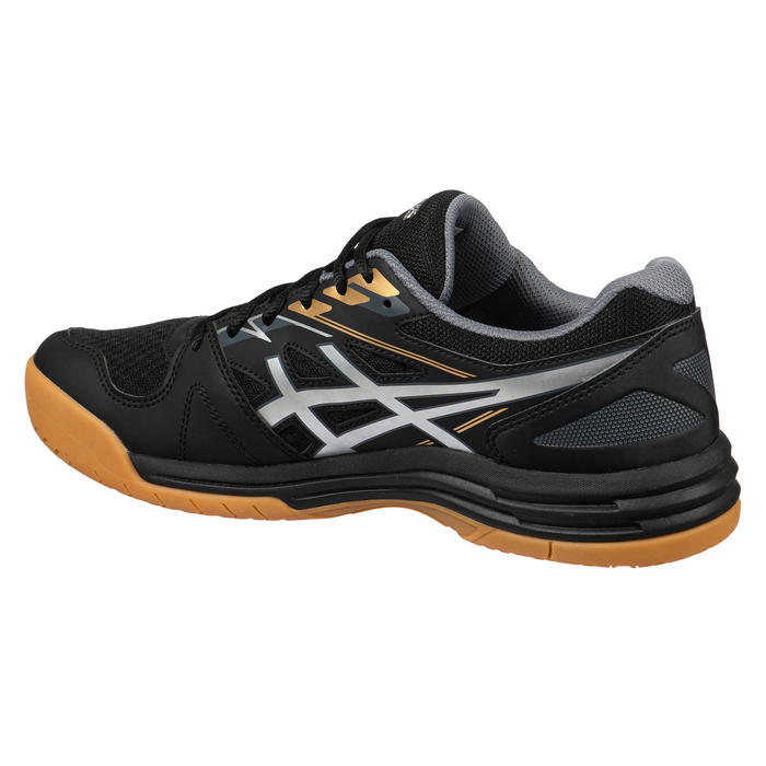 Chaussures de BADMINTON et SPORTS INTÉRIEURS Upcourt 4 Noir Argent.