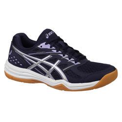 Schoenen voor badminton en indoor sporten dames Upcourt 4 marineblauw/lavendel