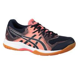 Schoenen voor badminton en indoorsporten Dames Gel Rocket 9 Marineblauw Guave.