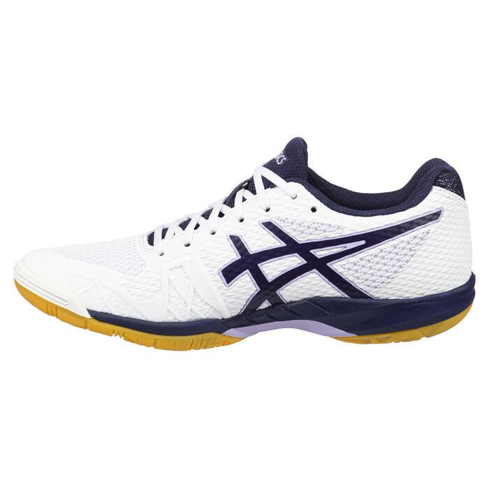 Chaussures de Badminton et SPORTS INDOOR femme Gel Blade 7 Blanc Marine