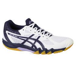 Schoenen voor badminton en indoorsporten Dames Gel Blade 7 Wit Marineblauw