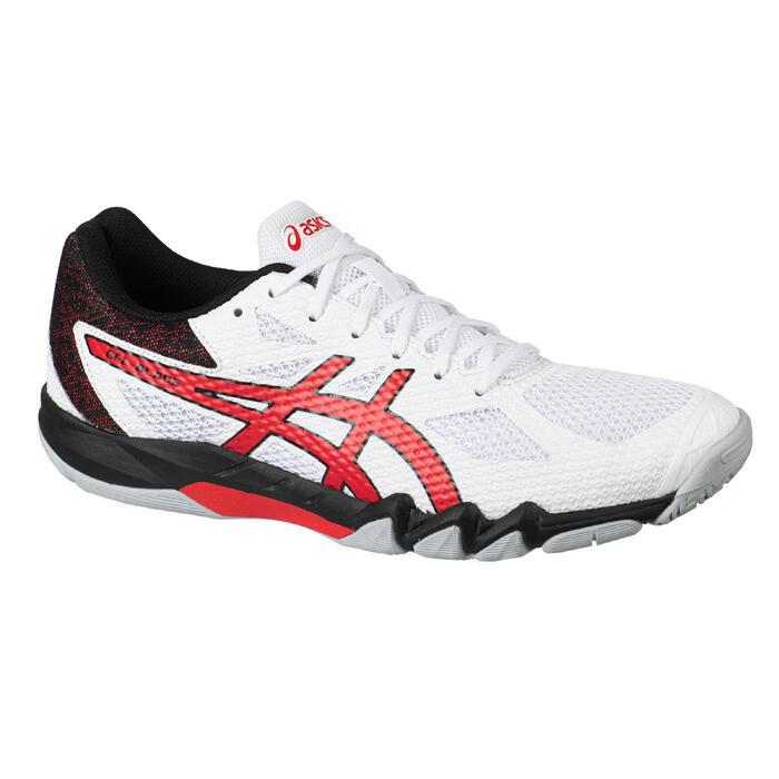 Sportschoenen badminton, squash, indoor sporten Gel Blade 7 wit/rood