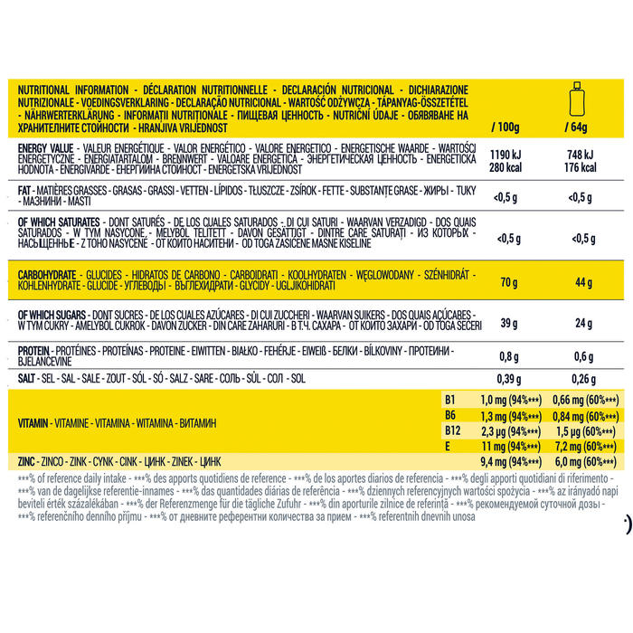 Gel énergétique ENERGY GEL G-EASY LONGUE DISTANCE Citron 2 x 64 g