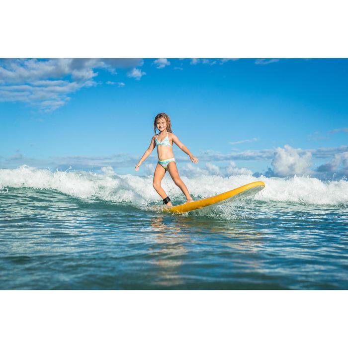 CULOTTE ET HAUT DE MAILLOT DE BAIN SURF FILLETTE TRIANGLE TURQUOISE TINA 100