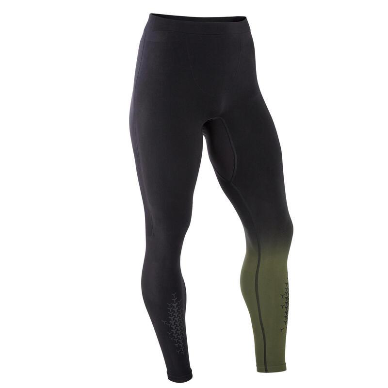 Men's Cross Training Leggings - Black/Khaki