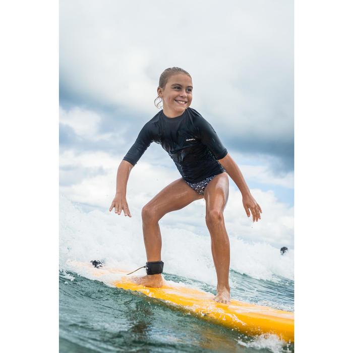 Surfbikini met triangeltop meisjes Taloo 100 zwart