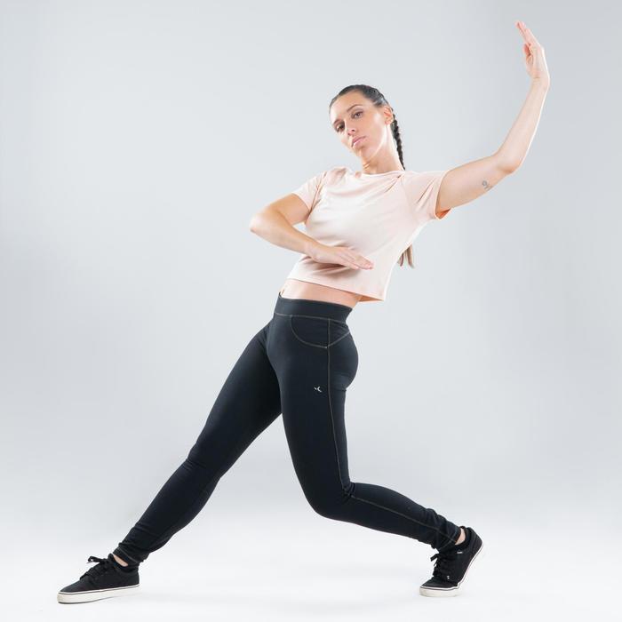 Crop top voor streetdance dames rozebeige
