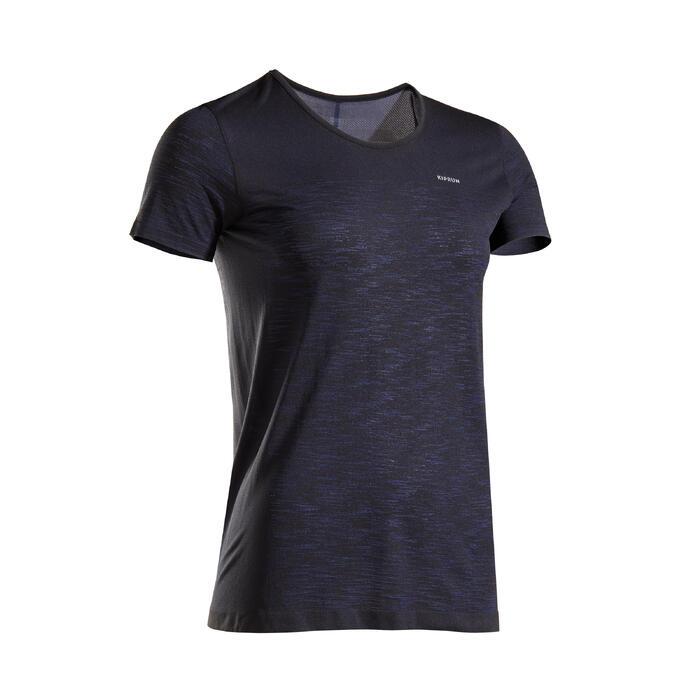 Ademend hardloopshirt voor dames Kiprun Care zwart