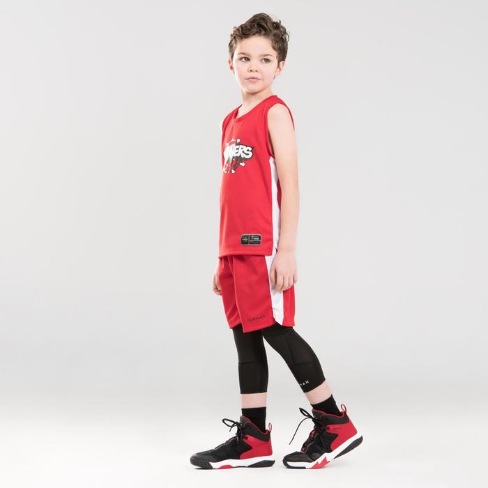 Boys'/Girls' Intermediate Basketball Jersey T500 - Red/White