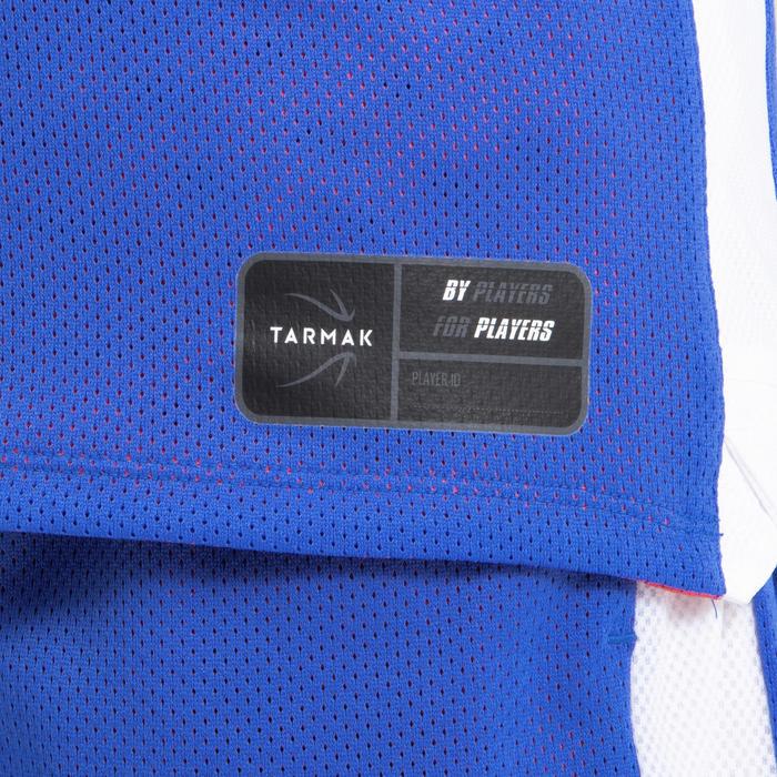 兒童款中階雙面籃球運動衫T500R-粉紅色/藍色
