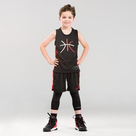 Celana Bola Basket Putra/Putri SH500 untuk Pemain Pemula - Hitam/Merah