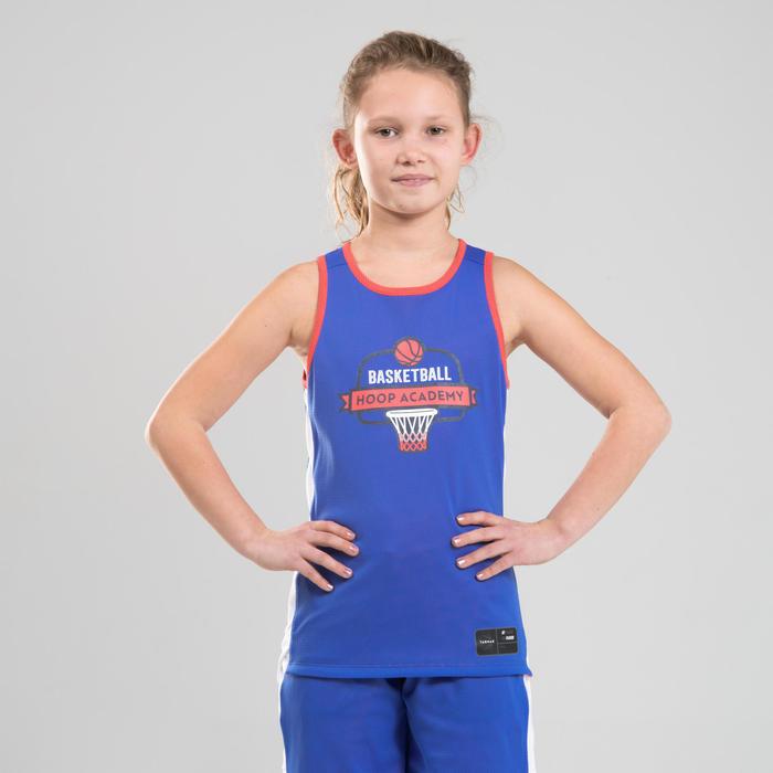 Boys'/Girls' Intermediate Reversible Basketball Jersey T500R - Pink/Blue Playg