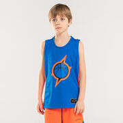 Kids' Jersey Basketball T500- Blue/orange