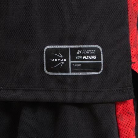 T500 Boys'/Girls' Intermediate Basketball Jersey - Black/Red