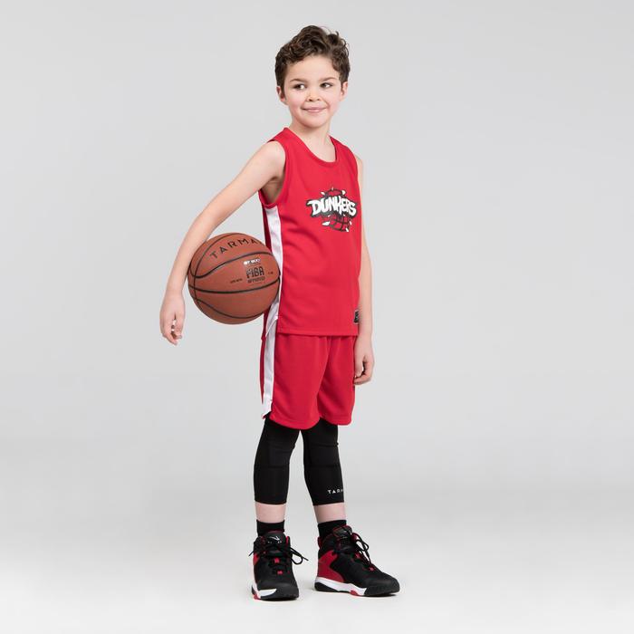 Girls'/Boys' Intermediate Basketball Shorts SH500 - Red/White