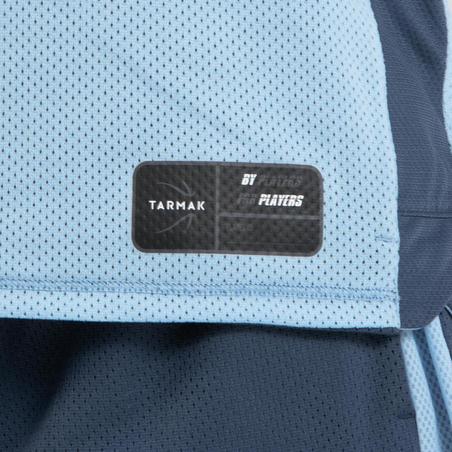 Kids' Intermediate Reversible Sleeveless Basketball Jersey T500R - Blue/Blue