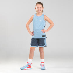 Basketbalshort voor jongens/meisjes van gevorderd niveau SH500R blauw/blauw