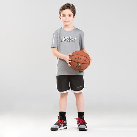 Girls'/Boys' Basketball T-Shirt / Jersey TS500 - Grey