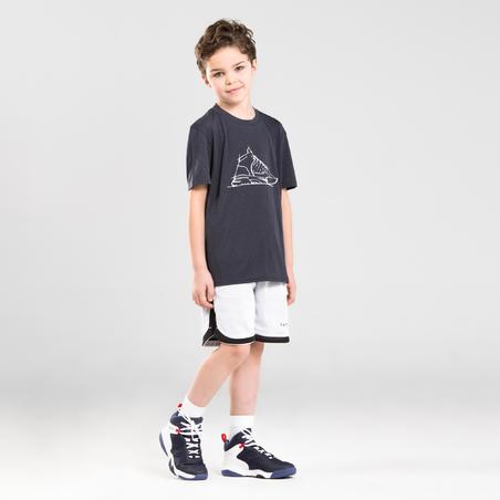 SS500H Boys'/Girls' Intermediate Basketball Shoes - Navy