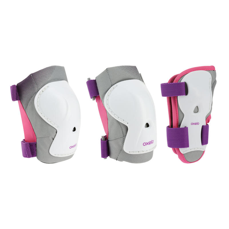 Bộ 3 thiết bị bảo hộ tập patin_SEMI_COLON_ ván trượt Play kids cho trẻ em - Tím