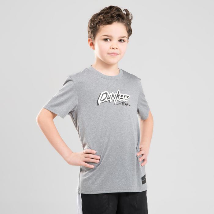 Basketbalshirt voor gevorderde jongens/meisjes TS500 grijs