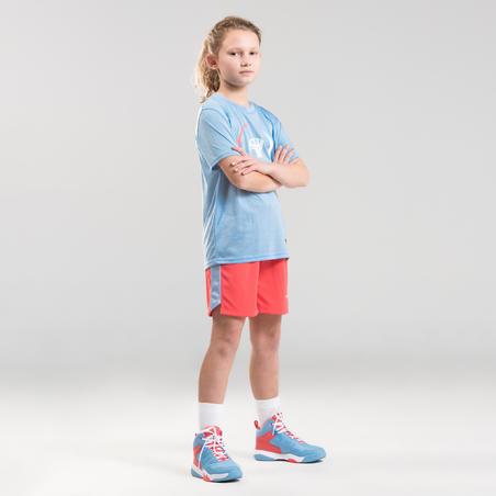 חולצת כדורסל TS500 לרמה בינונית לבנים/לבנות - כחול