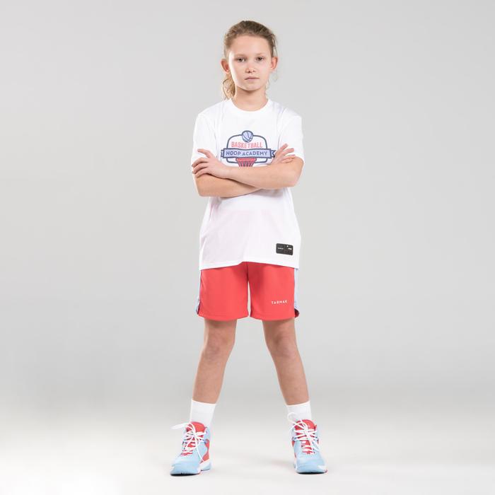 Girls'/Boys' Intermediate Basketball T-Shirt TS500 - White